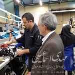 بازدید نماینده مردم میانه از کارخانه تولید قطعات و لوازم جانبی خودرو