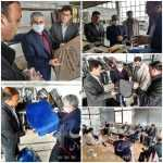 بازدید اسماعیلی نماینده مردم میانه از واحدی تولیدی روکش صندلی اتومبیل