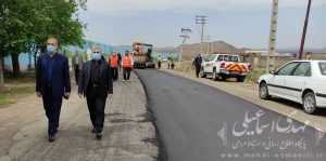 آغاز مراحل آسفالت جاده راه آهن به روستای شیخدرآباد میانه